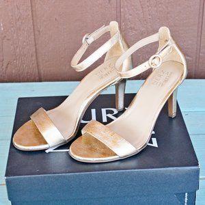 Naturalizer Kinsley Platino Metallic Gold Sandals